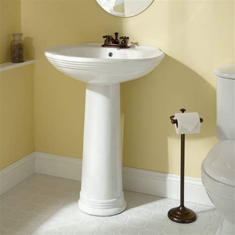 pedestal sinks for small bathrooms savoye porcelain pedestal sink bathroom
