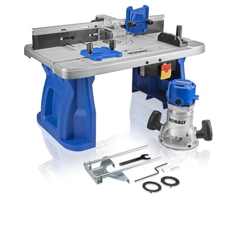 kobalt table saw review shop kobalt fixed corded router with table included at