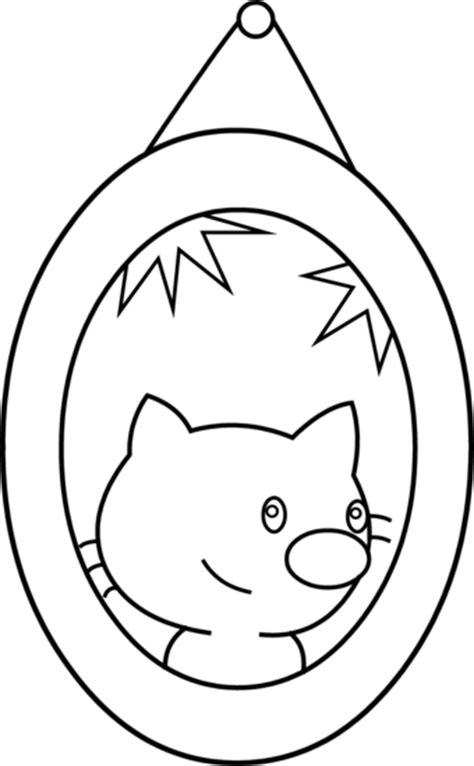 cute cat portrait coloring page  clip art
