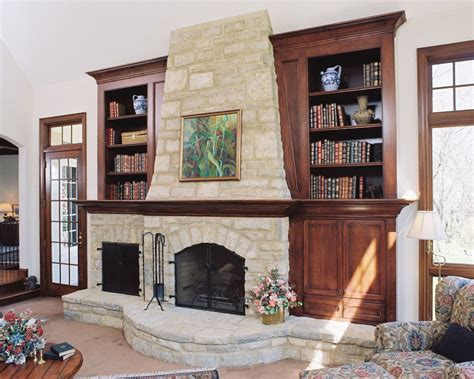 Living Room With Fireplace And Bookshelves by How To Makeover Your Living Room With Modern Rustic