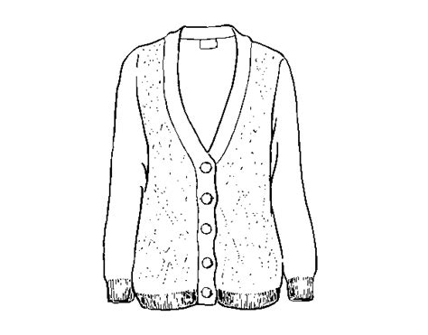 Woolen Cardigan Coloring Page