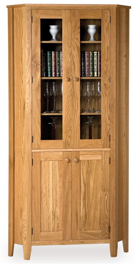 Cabinets Furniture by Corner Cabinet With Glass Doors Homesfeed