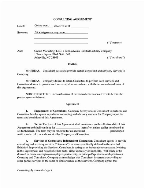 50 Awesome Simple Contract for Services Template in 2020 | Contract template, Web design