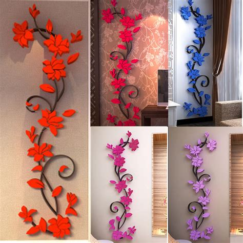 home decor wall decals flower wall stickers removable decal home decor diy