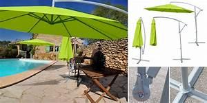 Toile De Rechange Pour Parasol Déporté : parasol d port rond diam tre 3 m m t aluminium toile ~ Dailycaller-alerts.com Idées de Décoration