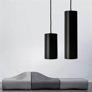 Modern black aluminium tube led pendant lighting