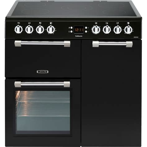 electric range cookers 90cm buy leisure cookmaster ck90c230k 90cm electric ceramic range cooker ck90c230k black marks