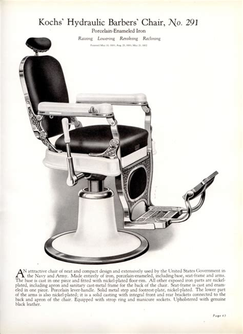 koch barber chair headrest 1926 koch barber shop catalog 39 barber chairs furniture