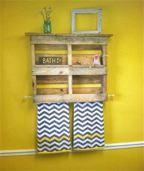 under towel rack diy pallet bathroom shelf and storage ideas ideas with