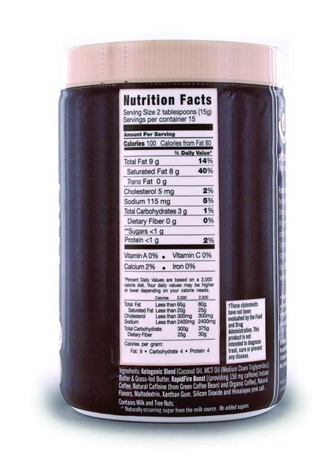 It features a ketogenic blend that contains. Rapid Fire Coffee Pods Nutrition - Nutrition Pics