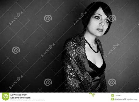 dreary beautiful fatal woman stock image image
