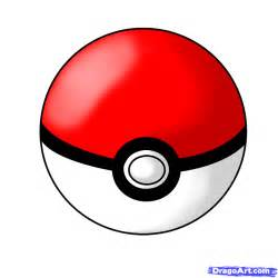 how to draw a pokeball