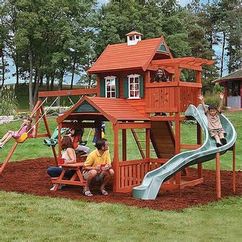 Backyard Play Structure by Fabulous Wood Play Structure Fort Can I One In