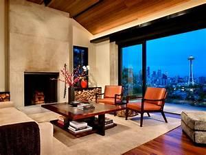 Concrete, And, Steel, Modern, Interior, Design