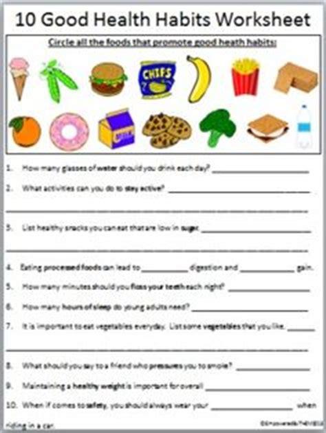 healthy habits grade 1 worksheet earth day pinterest