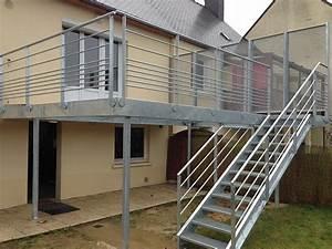 Terrasse Metallique Suspendue : terrasse metal sur pilotis ~ Dallasstarsshop.com Idées de Décoration