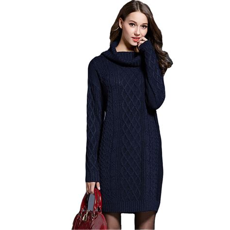 navy sweater dress fashion sweater dress sleeve turtleneck slim