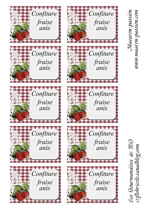 confiture fraise anis 233 tiquettes 1 2 3 flo bricole les gourmandises de flo