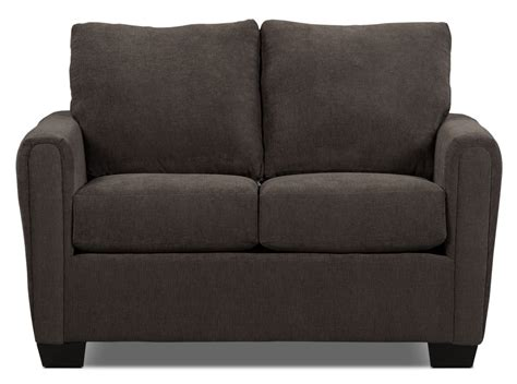 Chenille Loveseat by Spa Collection Chenille Loveseat Charcoal The Brick