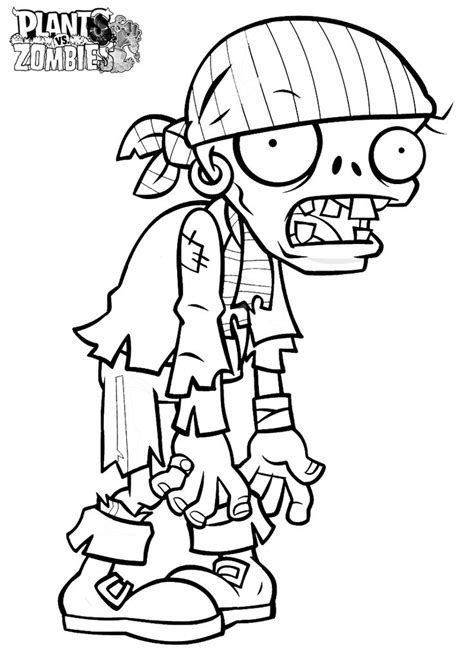 printable zombie coloring pages for free plants zombies zombie drawings