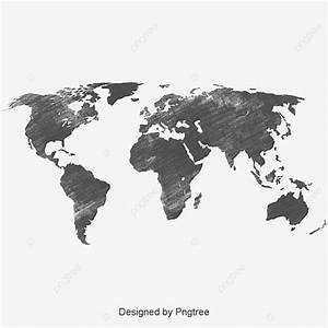 Black World Map  Black  World  Map Png Transparent Clipart