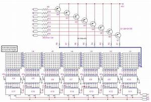 Led Based Moving Message Display Circuit Diagram