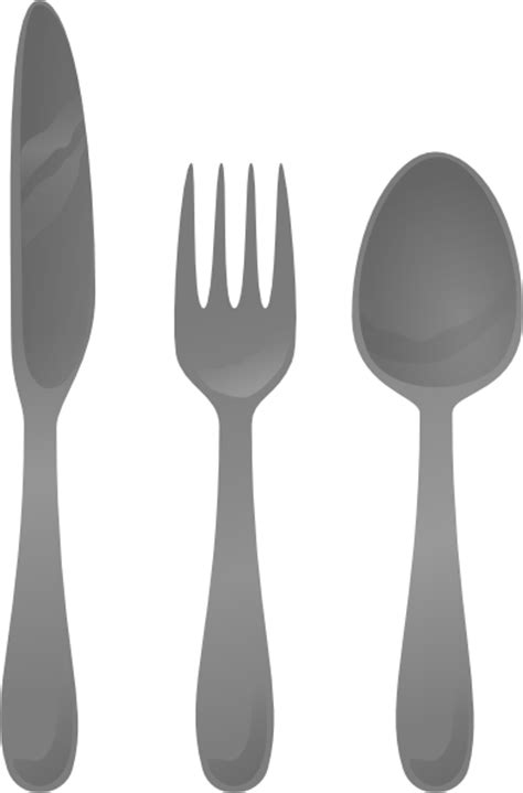 kitchen forks and knives moself cutlery clip at clker com vector clip