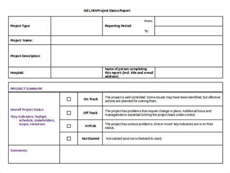 status report template 17 status report templates free sle exle format