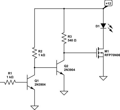 transistors led driver circuit 3 3v 5v electrical engineering stack exchange