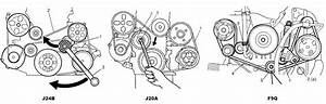 Diagram For Serpentine Belt For J24b