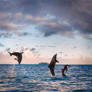 Papier Peint Geant : papier peint g ant dauphins 11107 stickers muraux deco ~ Premium-room.com Idées de Décoration