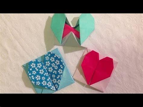 fun origami hartjesdoosjeenvelopje vouwen youtube