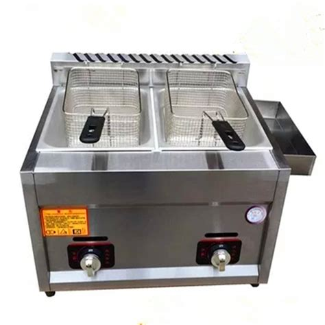 fryer deep double machine gas potato commercial frying chip chicken heating fryers cylinder worldwells pw electric alibaba
