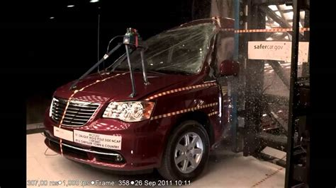 town and country test chrysler town and country 2012 pole crash test by nhtsa crashnet1