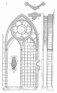 Meneaux fenetre cathedrale Reims Art gothique