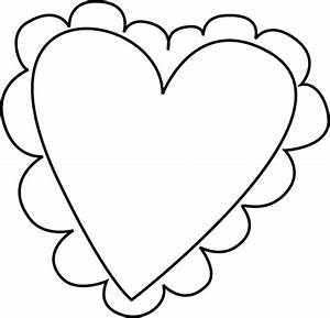 Black and White Valentine's Day Heart Clip Art - Black and ...