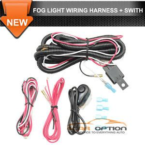 Universal Led Fog Lamp Wiring Harness Wire Switch