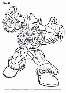 Learn How to Draw Sabretooth from The Super Hero Squad ...