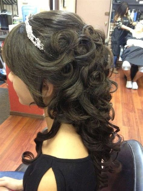 Quinceanera Hairstyles With Curls by Quinceanera Hairstyles With Curls And Tiara Quinceanera