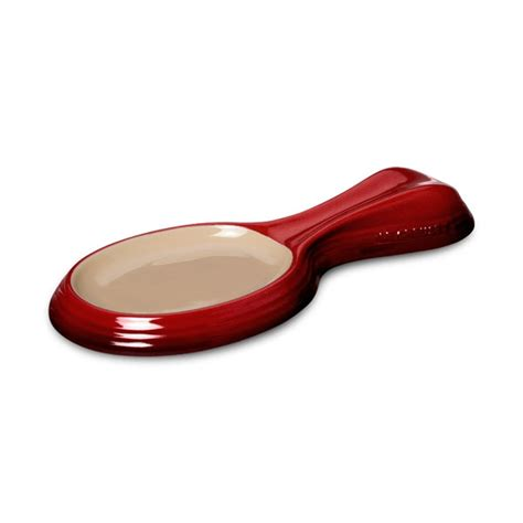 le creuset stoneware spoon rest  cherry red cutlery