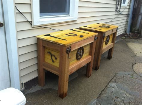 images  cooler  pinterest homemade wooden cooler  dallas cowboys
