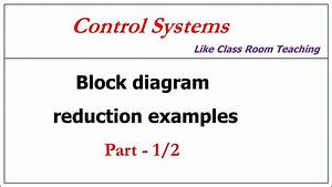 Block Diagram Reduction Control Systems