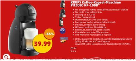 Nescafé Dolce Gusto Piccolo 19,99 € + 40 € Gutschrift