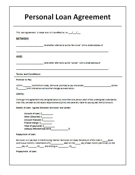 loan agreement templates  write perfect agreements
