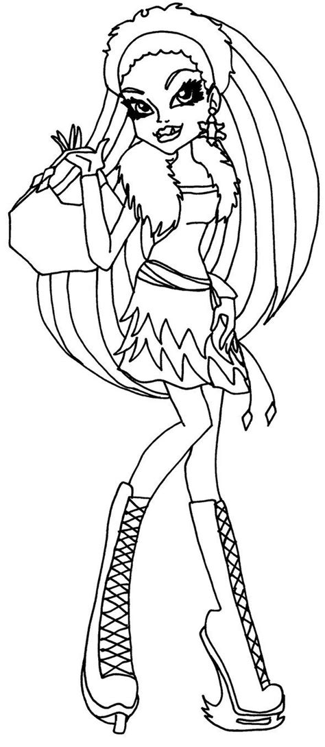 abbey bominable monster high coloring page coloring pages  epicness pinterest coloring