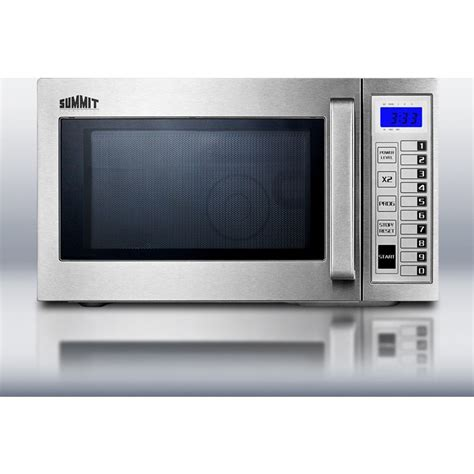 scmss summit  cu ft stainless steel interior  exterior microwave