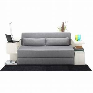 Seatpacking sofa bed light grey nyfu touch of modern for Light gray sofa bed
