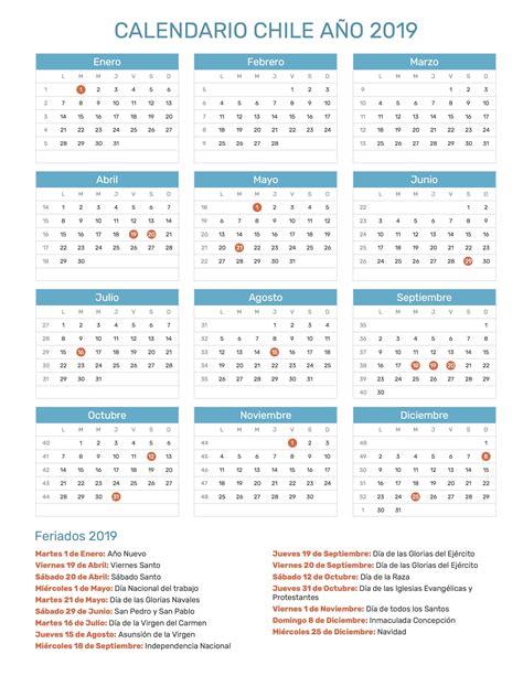 calendario chile calendario chile calendar