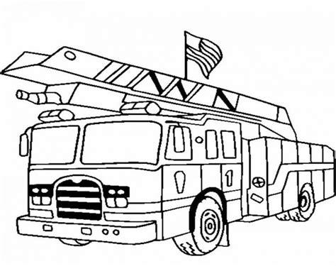 mewarnai gambar mobil pemadam kebakaran kartun 69