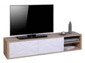 Meuble Tv 180 Cm : meuble tv 180 cm graphik coloris ch ne blanc vente de meuble tv conforama ~ Teatrodelosmanantiales.com Idées de Décoration